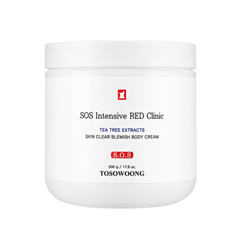 TOSOWOONG SOS Intensive Red Clinic Skin Clear Blemish Body Cream 500g