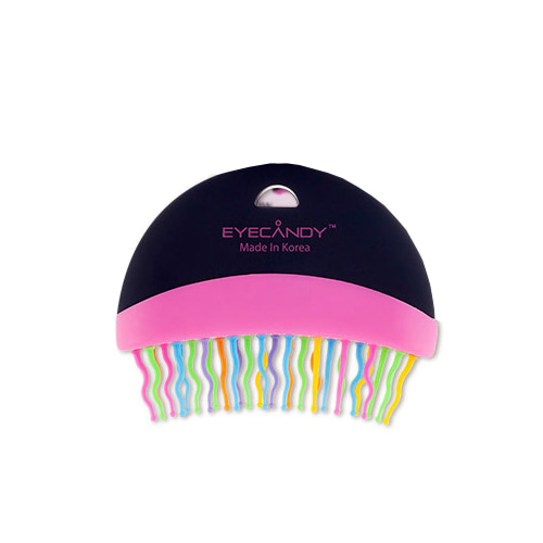 EYECANDY Rainbow Half Moon Brush Black
