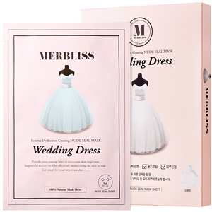 MERBLISS Wedding Dress Nude Seal Mask 5pcs