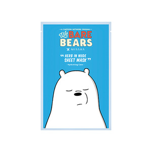 Missha Herb In Nude Sheet Mask Hydrating Care (We Bare Bears Edition)