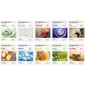 Secriss Pure Nature Mask Pack 10 Sheets (10ea of one type)