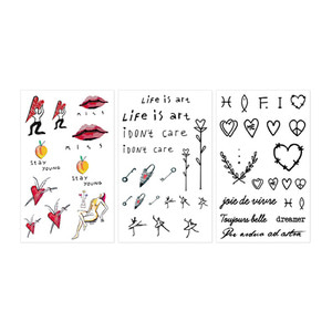 INGA Artist Tattoo Sticker 1Set (3ea)