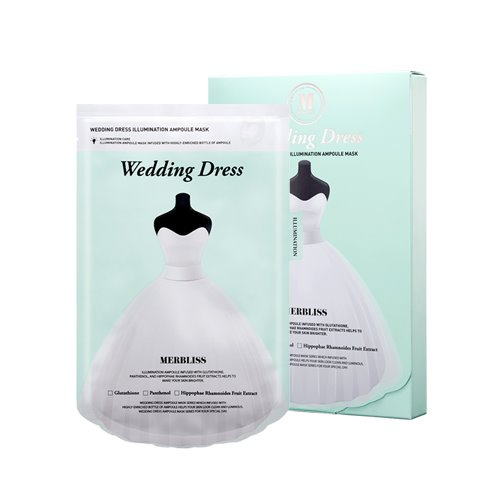 MERBLISS Wedding Dress Illumination Ampoule Mask 5ea