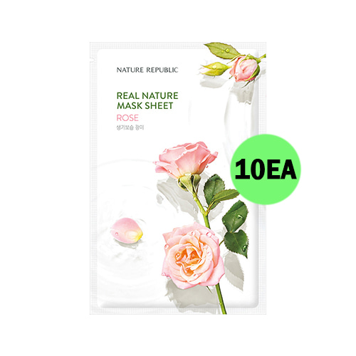 NATURE REPUBLIC Real Nature Mask Sheet Rose 10ea