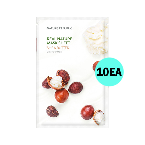 NATURE REPUBLIC Real Nature Mask Sheet Shea Butter 10ea