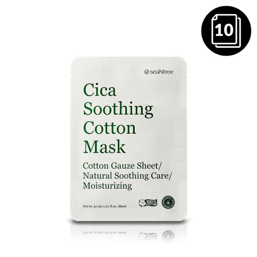 seaNtree Cica Soothing Cotton Mask 10ea