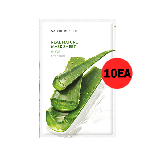 NATURE REPUBLIC Real Nature Mask Sheet Aloe 10ea