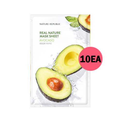 NATURE REPUBLIC Real Nature Mask Sheet Avocado 10ea