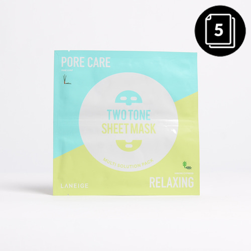 LANEIGE Two Tone Sheet Mask Porecare & Relaxing 28ml 5ea